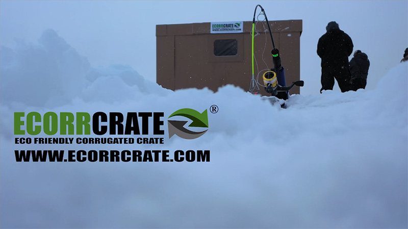 Ice Fishing in an Ecorrcrate Hut